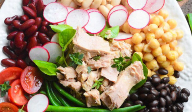 Mediterranean Tuna Salad with Tarragon Vinaigrette Recipe