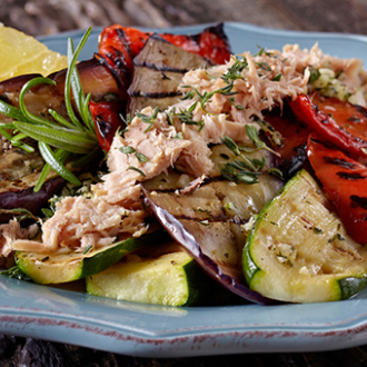 Chilled Grilled Vegetables with Tuna Recipe