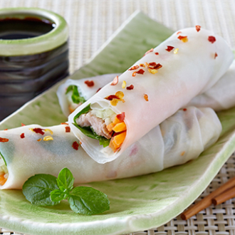Vietnamese Tuna Spring Roll Recipe, Tuna Spring Roll with Canned Tuna